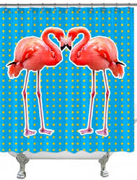 Flamingo Shower Curtains Shower Curtains