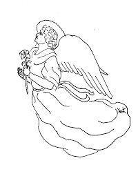 free christmas coloring pages angel glum