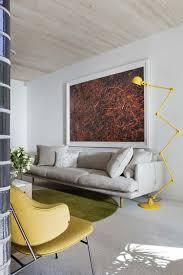 Wohnzimmer Modern Streichen Bilder Wohnzimmer Streichen Ideen Weißes Sofa Gelb Grüne Akzente B U0026m