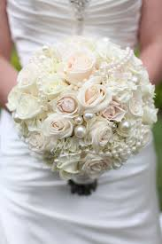 brides bouquet gorgeous blush pink white bridal bouquet with pearls san diego