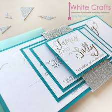 teal wedding invitations invitations white crafts