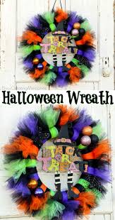 stunning easy to make tutu halloween wreath tutorial for your