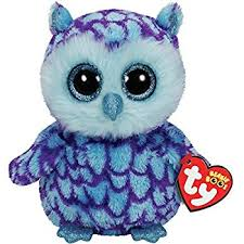 amazon ty beanie boos oscar blue purple owl plush toys