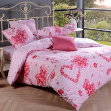 girls princess bedding pink and red romantic love heart cute and princess themed flower