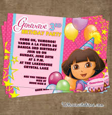 dora birthday invitations wblqual com