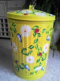 hand painted 20 gallon trash can krystasinthepointe com etsy