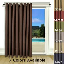 Patio Door Curtains Blackout Patio Door Curtain Panel With Detachable Wand Handle