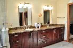 bathroom gorgeous brown wooden bathroom vanity designed with