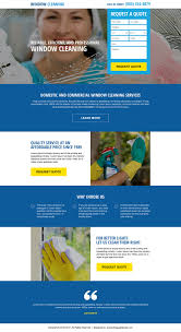 converting cleaning service landing pages