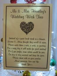 Wedding Wishes Guest Book Wishing Tree Poem Wishing Tree Pinterest Tree Guest Books