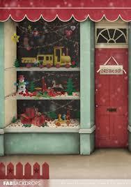 christmas backdrops fab vinyl santa s workshop christmas backdrop