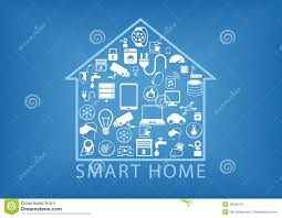 smart home automation as illustration stock illustration image