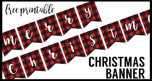 merry christmas banner free printable merry christmas banner paper trail design