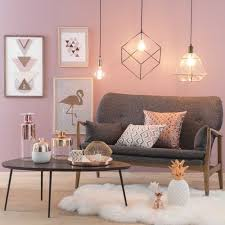 pink living room ideas lada a sospensione in vetro d 36 cm arty copper a cheerful