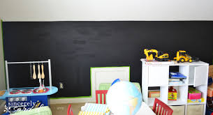 Chalkboard Home Decor by Playroom Chalkboard Wall Sincerely Sara D