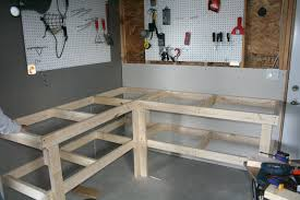Office Desk Plans Woodworking Free by Cheap And Easy Garage Workbench Garage Workbench Woodworking