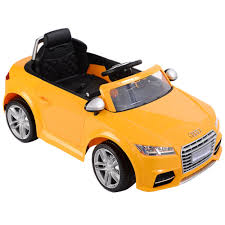 audi tt electric audi tt rs yellow electric ride on car electric ride on