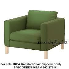 green chair slipcover ikea karlstad slipcover sivik green 202 272 91 slip cover for