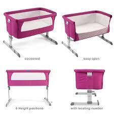 chicco luxury next 2 me crib fuchsia buy at online4baby