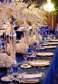 captivating royal blue and gold wedding decorations 63 in table