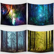 home decor tapestry forest tree indian tapestry beach towel bedspread blanket wall
