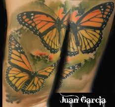 butterfly butterflies realistic monarch color sleeve work tattoo