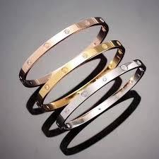 love bracelet gold plated images Hot model stainless steel silver love bracelet 5mm titanium nail jpg