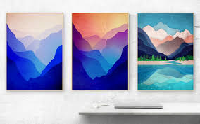 landscape art prints set of three art prints nature prints