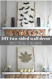 Home Decorations For Halloween by Leaf String And Bat Wall Art A Two For One Fall Decor U2022 Our House