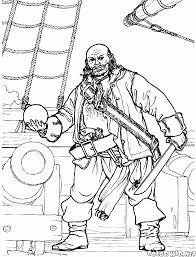 coloring page treasures of pirates