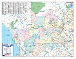 northern map northern cape provincial wall map mapstudio