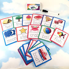 tracing 4 letter words flash cards nursery early years