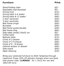 exchange old furniture for ikea shopping vouchers at its tampines
