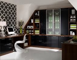 office amazing home office interior design with black shelves
