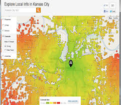 Kansas Map Toellner Tells It Kansas City Commuting Heat Map