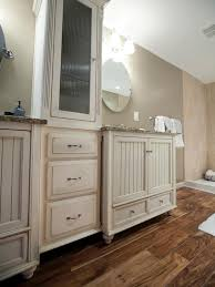 white wooden vanity with storage abd drawers also gray counter top