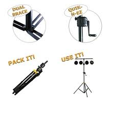 stage lighting tripod stands hercules stage lighting tripod stand 1 7m 3 5m tall with t bar