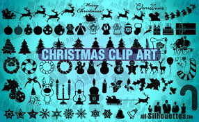 christmas clip art all silhouettes