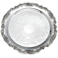 engraved silver platter burgundy silverplate 13 tray engraving pz