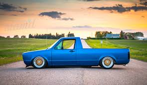 volkswagen pickup diesel built to drive the dub dynasty 1981 vw caddy u2013 slam u0027d mag