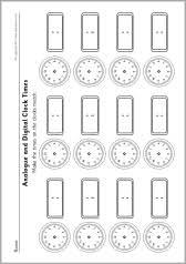 blank analogue and digital clock times worksheets sb9593