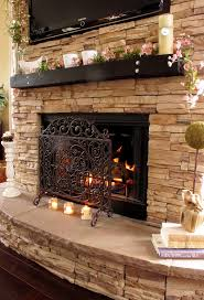painted stone fireplace outside fireplace contemporary fireplace