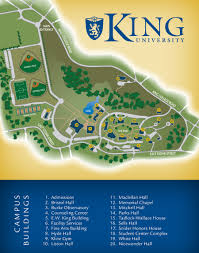 Bristol Tennessee Map by King University Campus Map