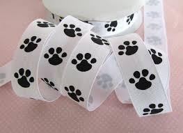 paw print ribbon embellishment world ribbon grosgrain print ribbon size 7