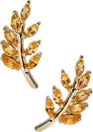 eddera earrings olive branch yellow topaz stud earrings by eddera at i