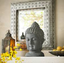 amazon com meditating buddha head 18 1 2 u0026quot high outdoor