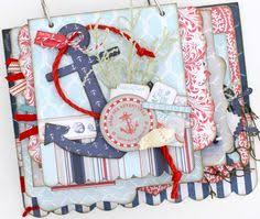 nautical photo album mini album for 4th of july or as a tribute to our loved