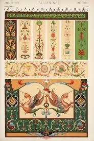 decorative arts the grammar of ornament italian ornament