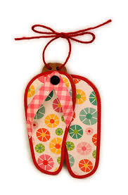 needles n knowledge flip flop ornaments with sunburst tree finial