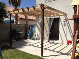 ana white pergola attached directly to the house diy projects